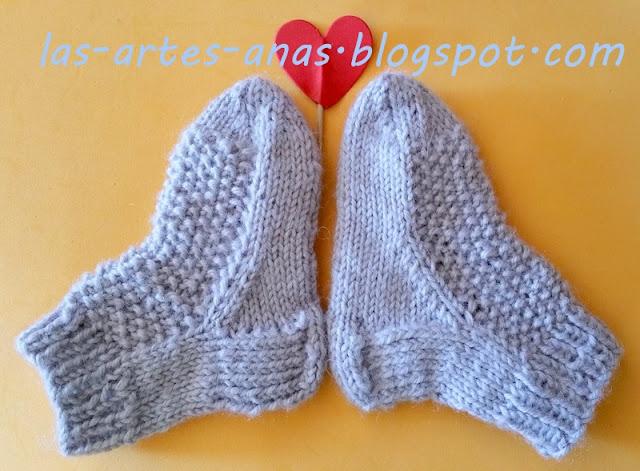 Artes anas calcetines beb 5 agujas tutorial - Como hacer talon de calcetines de lana ...