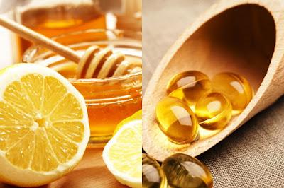 vitamin e, chanh và mật ong
