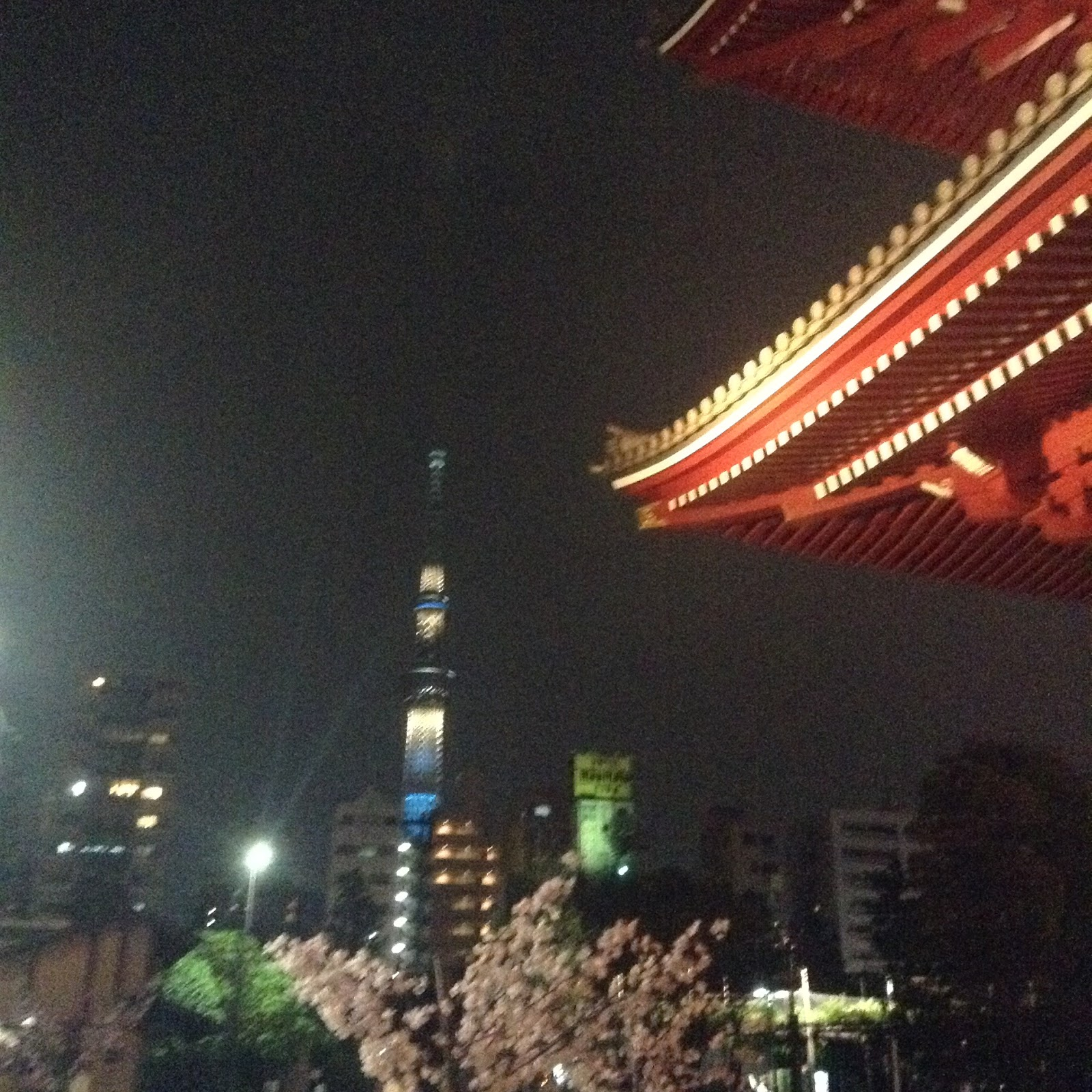 Sky tree and temple Tokyo