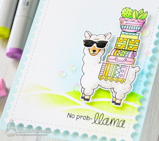 No Prob-llama Card by Tatiana Trafimovich | Loveable Llamas Stamp Set by Newton's Nook Designs #newtonsnook #handmade