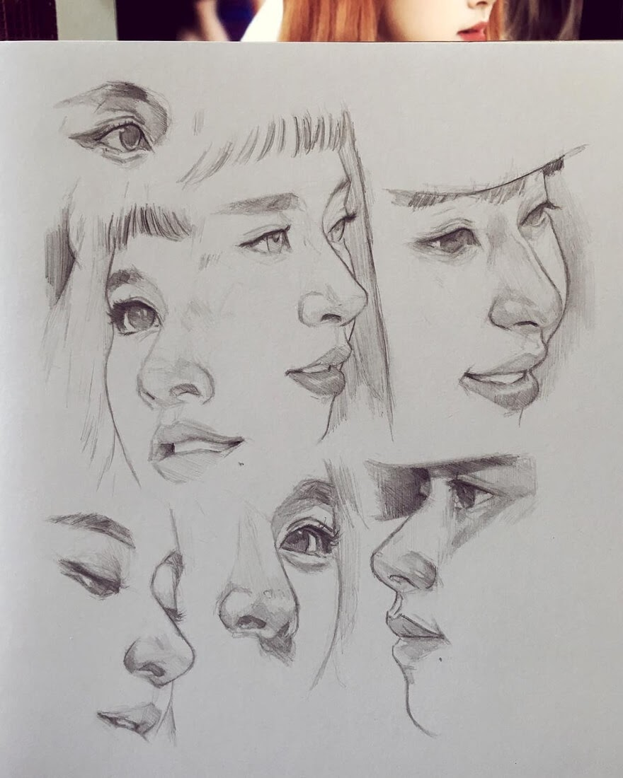 13-Dika-Toolkit-Multiple-Portraits-Drawing-Studies-www-designstack-co