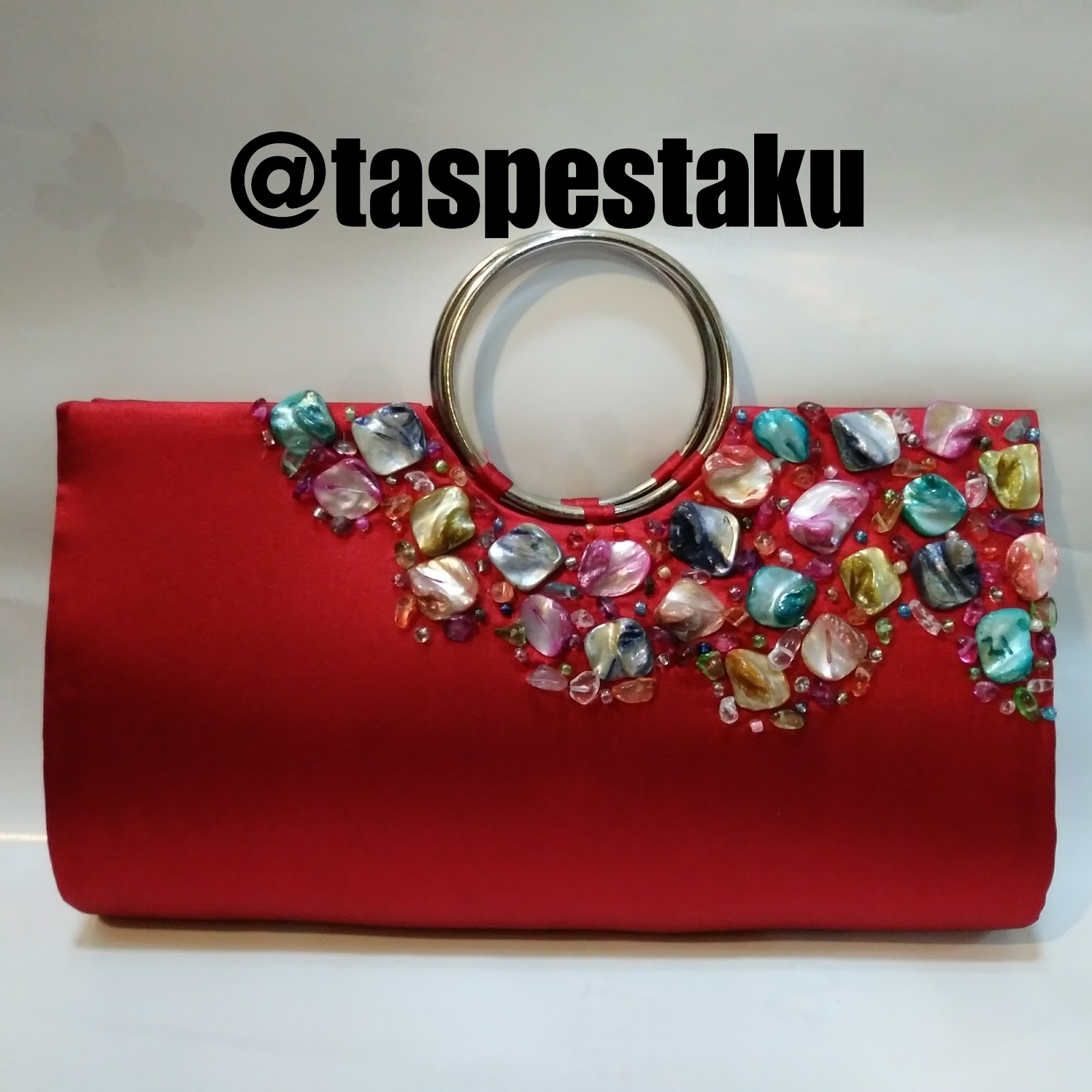 Handmade Tas Pesta Clutch Bag Merah Cabe Cantik Mewah Elegant (Ready Stock) 6b9bd6eb1f