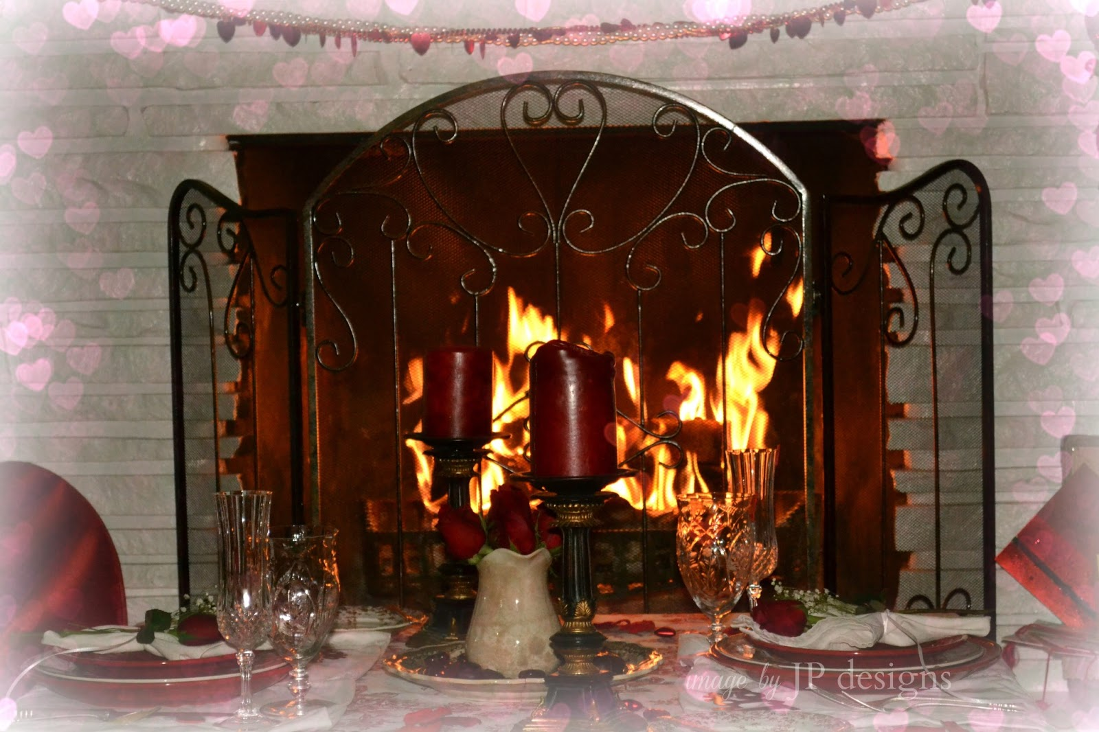 Fireplace Sounds Romantic Fireplace With Crackling Fire Sounds Hd