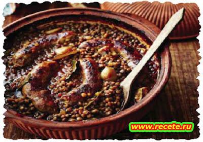 Lentil & sausage pot