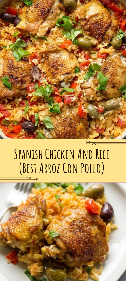 Spanish Chicken And Rice #BestArroz #ConPollo