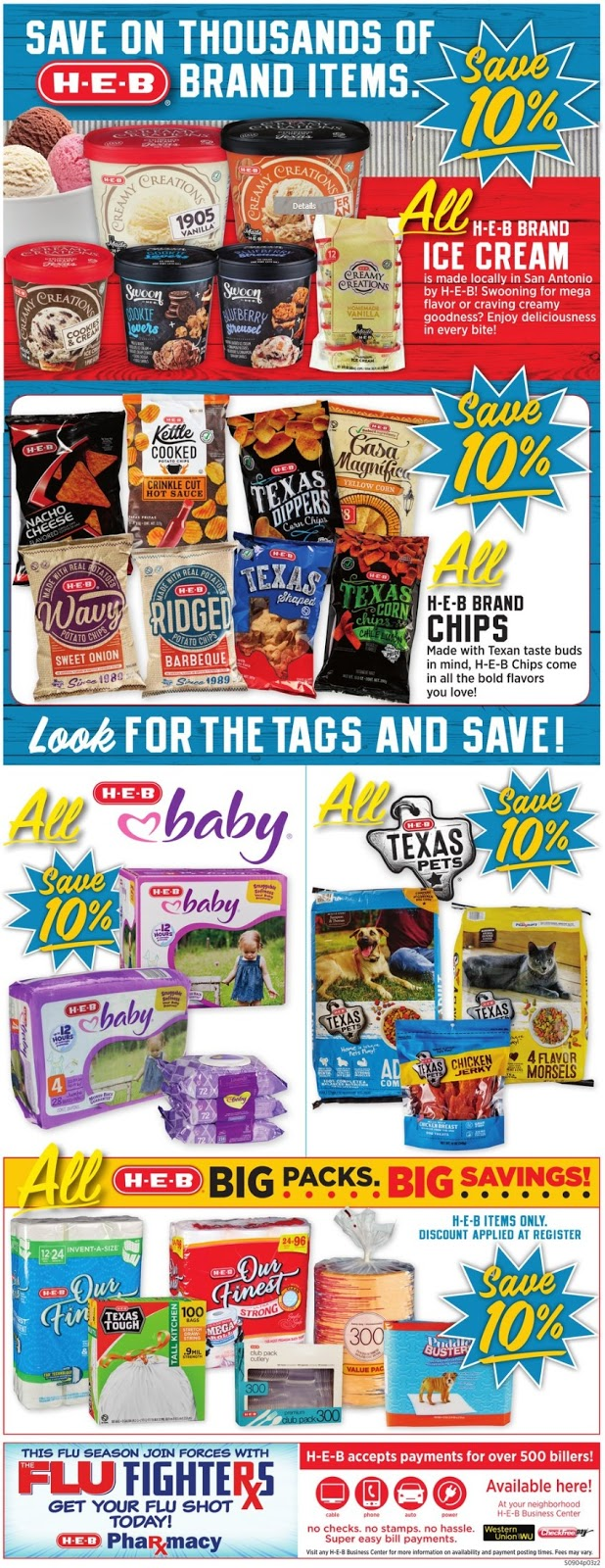HEB Weekly Ad Scan September 11 - 17, 2019