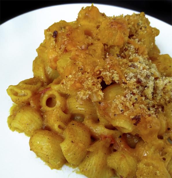 PASTA GRATINADA CON QUESO AL ESTILO INDIO la cocinera novata cocina receta gastronomia especias india italia vegetariana horno