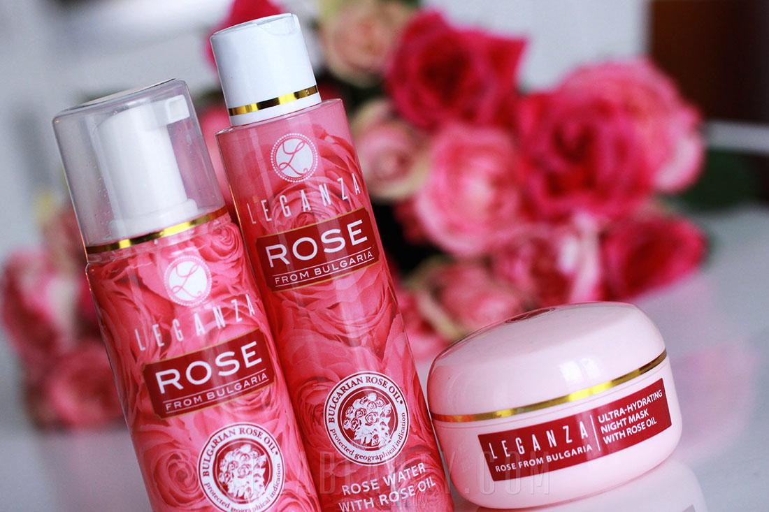Pielęgnacja :: Leganza – cudna róża z Bułgarii <br>(pianka do mycia twarzy, woda różana, maska na noc) [recenzja]