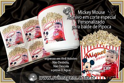 #balde #pipoca #mickey #mouse #personalizado #infantil