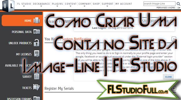Como Criar Conta no Site da Image-Line | FL Studio - Vídeo
