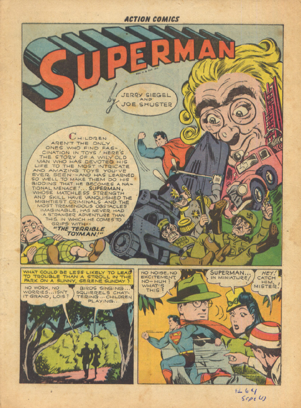 Read online Action Comics (1938) comic -  Issue #64 - 3