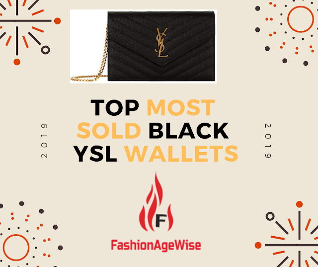 image result TOP MOST SOLD BLACK YSL WALLETS