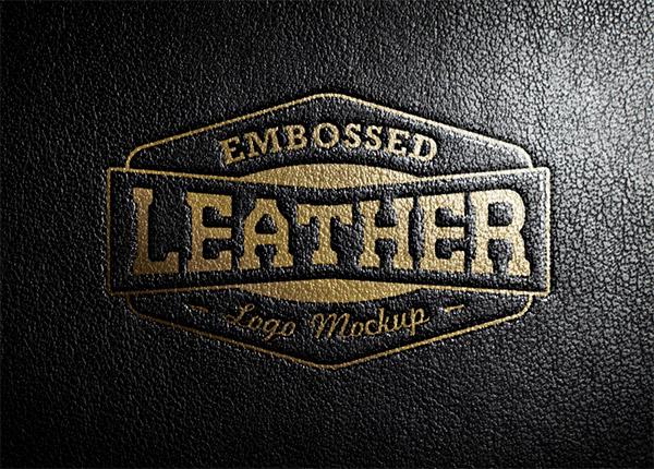 Download Logo Mockup PSD Terbaru Gratis - Leather Stamping 2 Logo Mockup