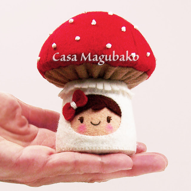 Miss Toadstool Pincushion by casamagubako.com