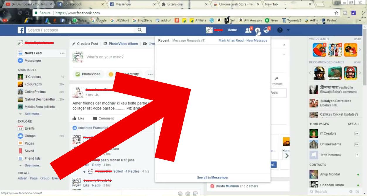 Facebook'ta Toplu Mesaj Silme