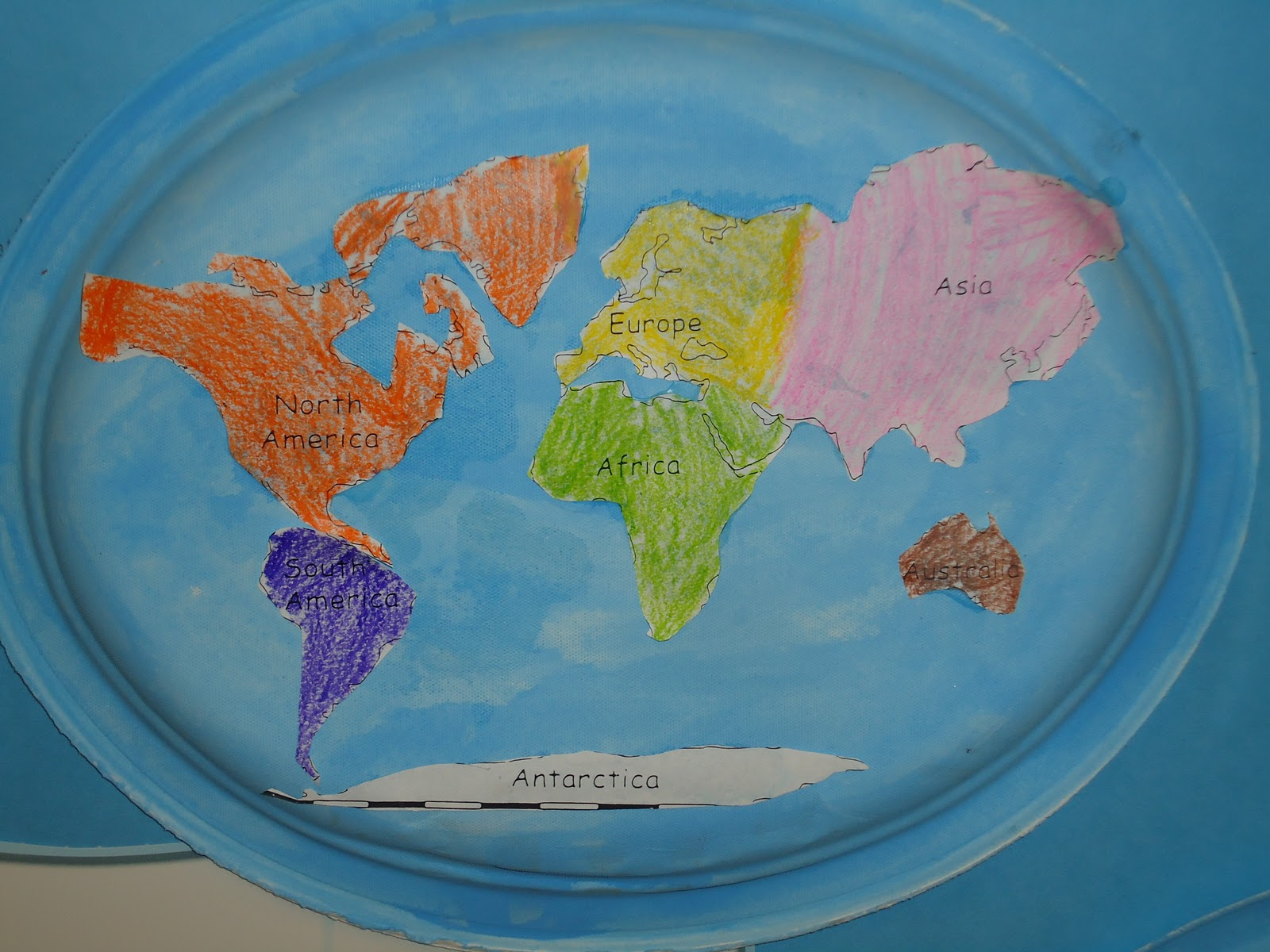 Literacy Minute Paper Plate Continents & Chinet Oval Paper Plates - Castrophotos
