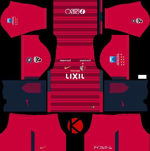Kashima Antlers 鹿島アントラーズ 2018 - Dream League Soccer Kits