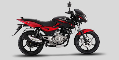 Bajaj Pulsar 150 DTSi side view red