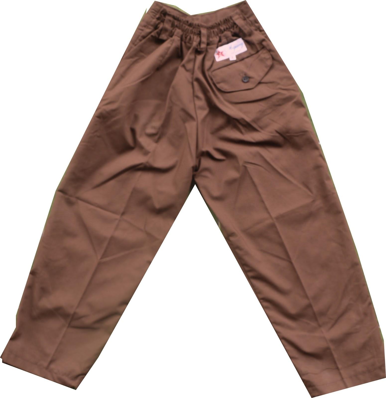 Celana Pramuka Panjang SD uk 8,9