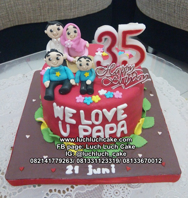 Kue Tart Untuk Papa Tema Keluarga