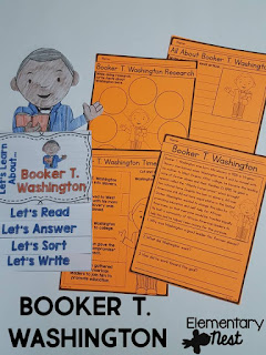 Black History Month Reading Resources- Booker T. Washington reading, online research, childrens books, biographies, and more to help teach Black History Month