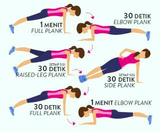 6 Gaya Senam Plank untuk Pria dan Wanita + Teknik Latihan yang Benar