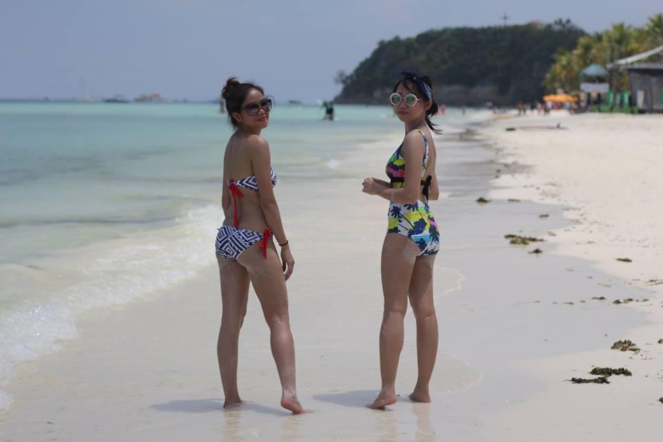 white beach calls for a cute swimwear