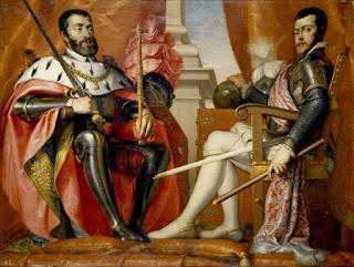 Don Juan de Austria, y el duque Alejandro Farnesio, departiendo amigablemente.