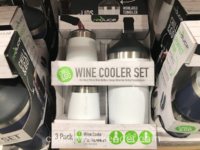Keep white wine and champagne properly chilled with the Reduce Wine Cooler Set