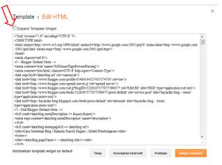 Cara Tercepat dan Mudah Mencari Kode HTML Pada Template Blog