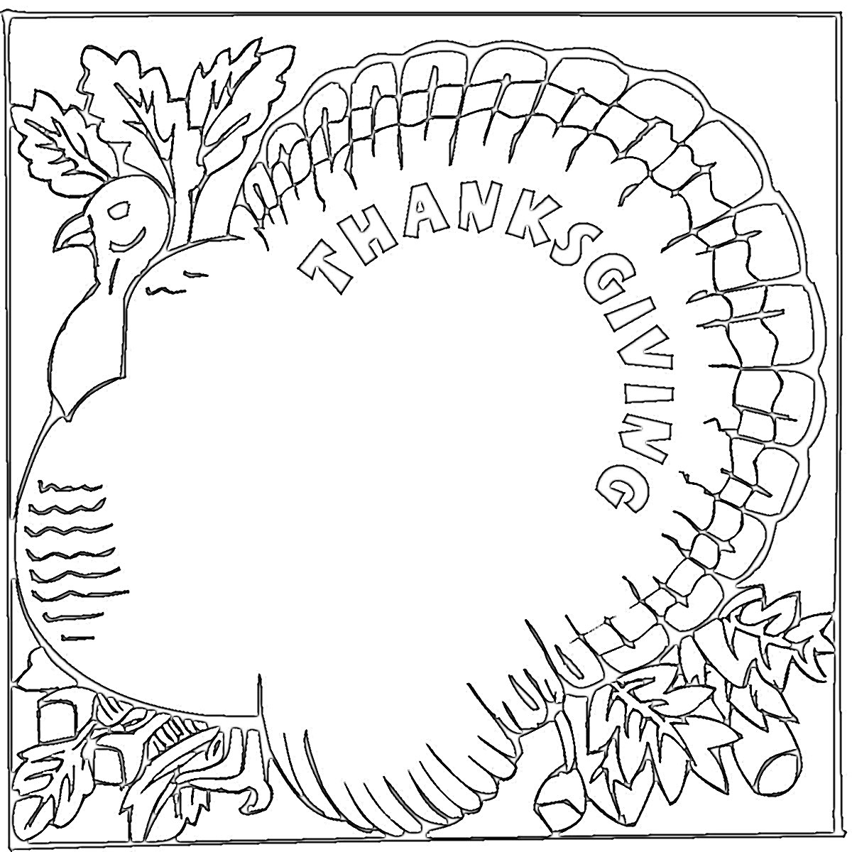 Thanksgiving coloring pages cards ~ A little Brit of us: Happy Thanksgiving!
