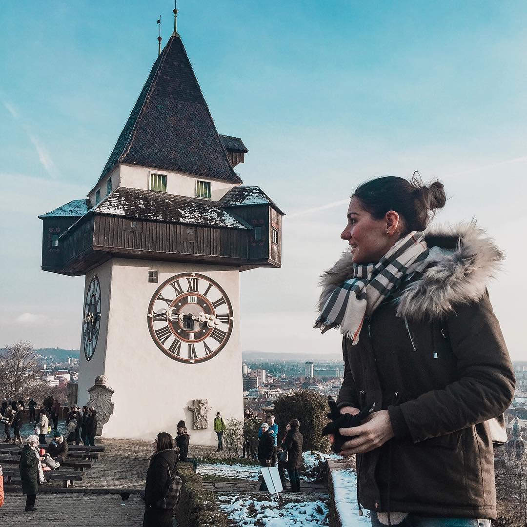 Uhrturm Graz wieża zegarowa lifestyle blog