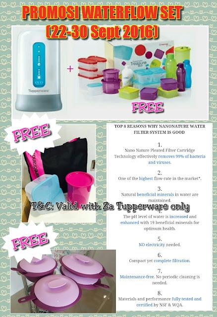 Tupperware Nano Nature WaterFlow Set Promo (22nd - 30th September 2016)
