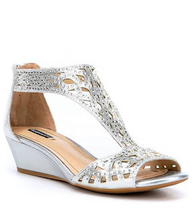 5e2822db77 Silver Comfortable Prom Wedding Wedges Trend