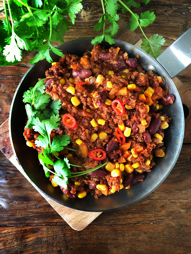 chili sin carnea pannulla