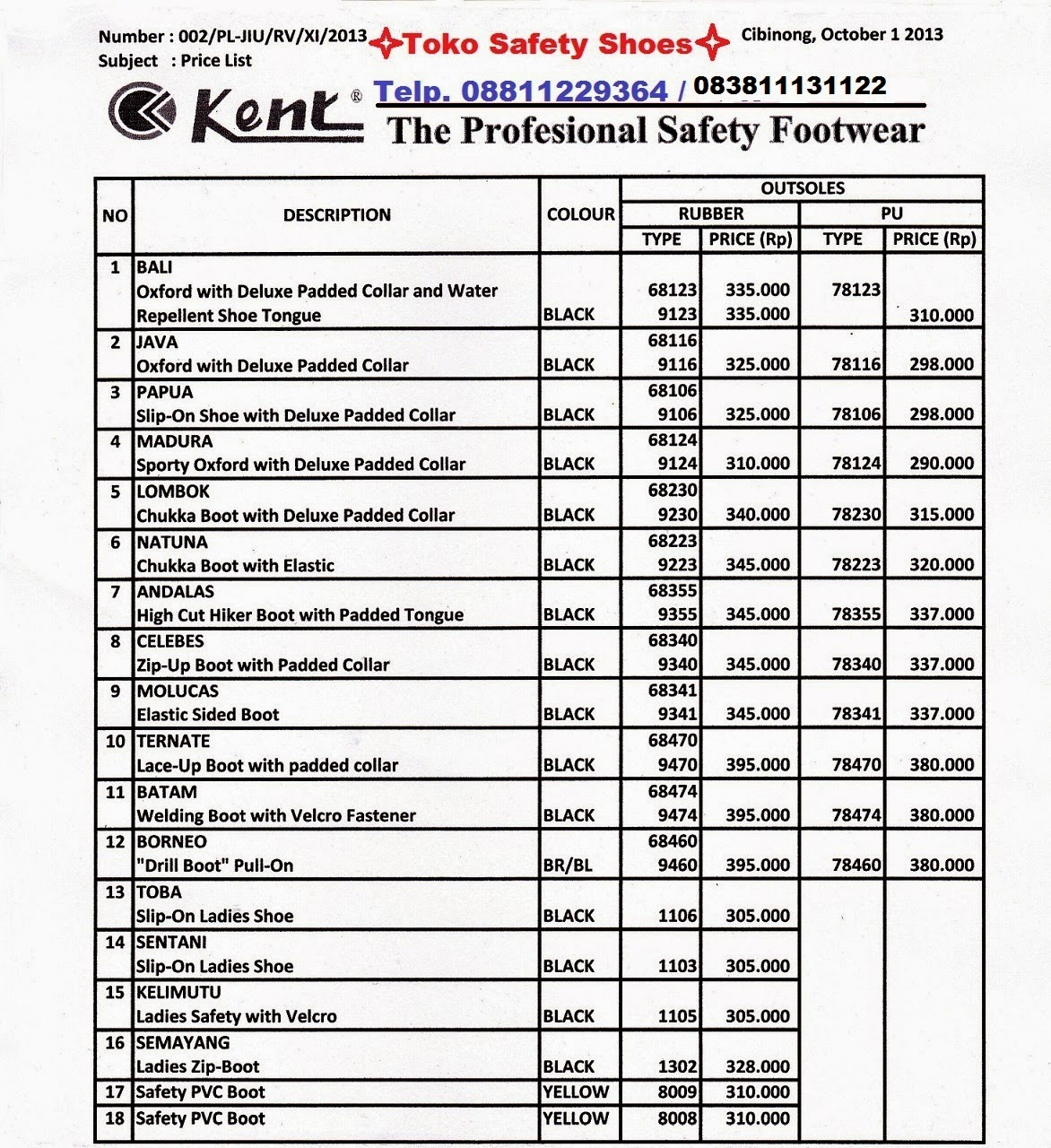 Kings Safety Shoes Price List
