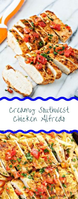 Creamy Southwest Chicken Alfredo