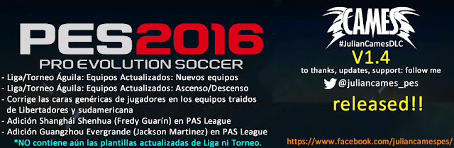 Julian Cames DLC PES 2016 V1 4 released! - Pro Evolution Soccer 2016