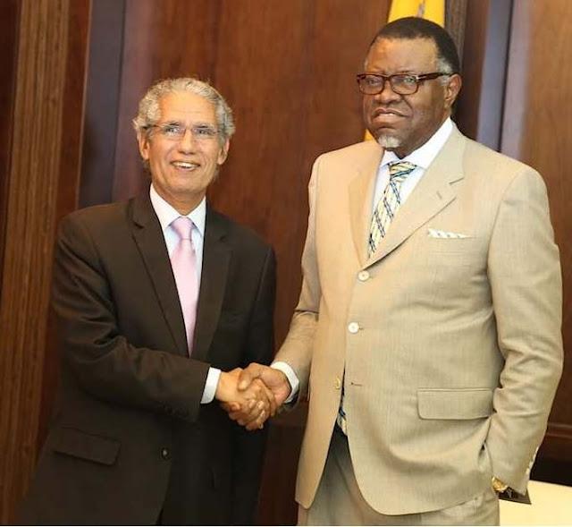 الرئيس الناميبي يستقبل وزير الشؤون الخارجية مبعوثا عن رئيس الجمهورية
