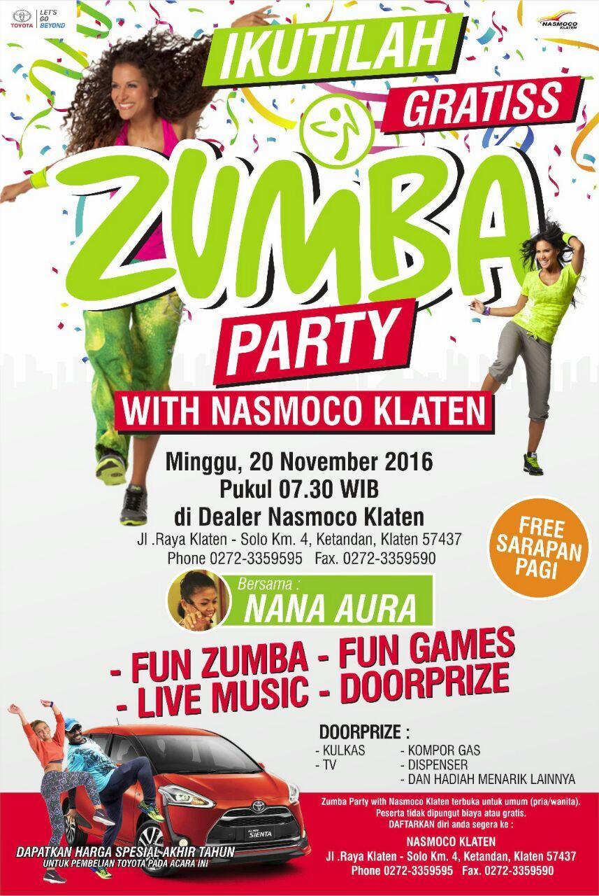 Zumba Party With Toyota Nasmoco Klaten
