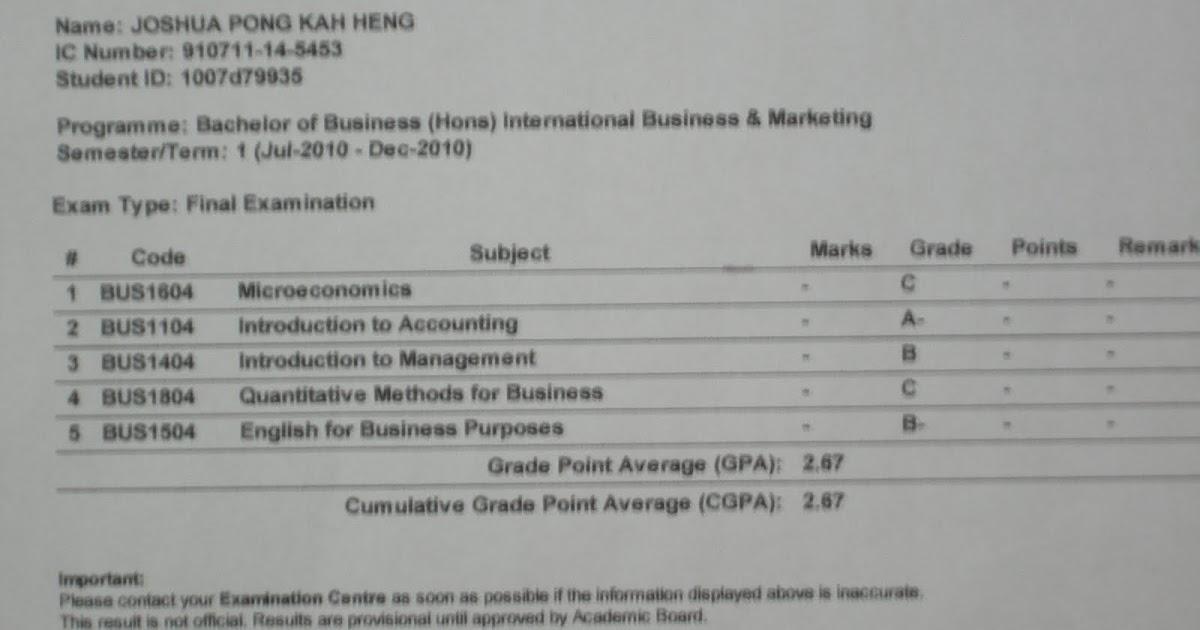 E- Portfolio: Exam Transcripts