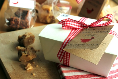 Gingham Chicken Fudge