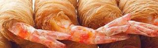 طريقة عمل الكنافة بالروبيان او الجمبري