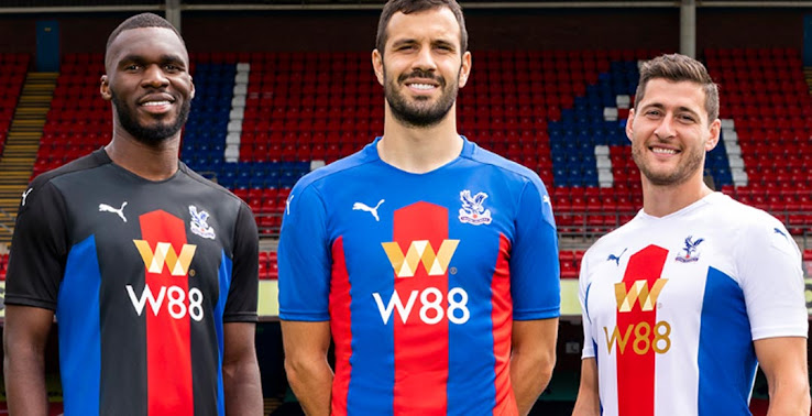 Crystal Palace 20 21 Home Away Third Kits Released New Main Sponsor Footy Headlines