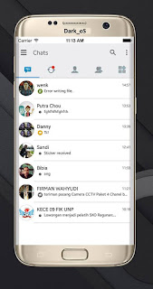 BBM Dark Os V3.0.1.25 Apk Terbaru Gratis