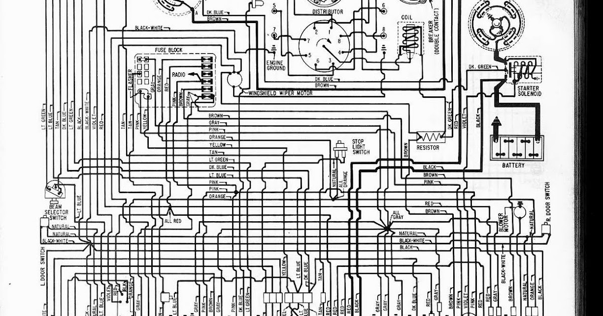 Free Auto Wiring Diagram: 1962 Chevrolet Corvette Wiring Diagram