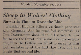"A newspaper article titled ""Sheep in Wolves' Clothing."""
