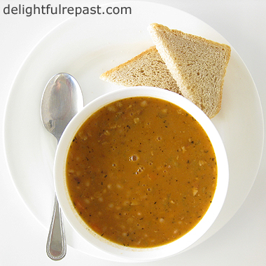 Bean with Bacon Soup / www.delightfulrepast.com