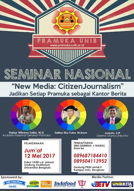 APRILIANSYAH | Seminar Nasional Pramuka Unib 2017