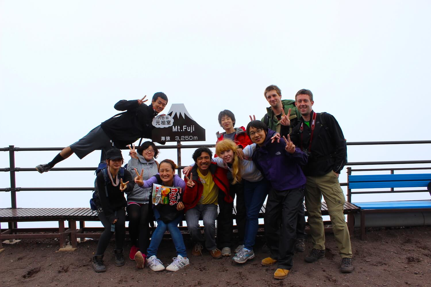 at one of mt fuji stops climbing